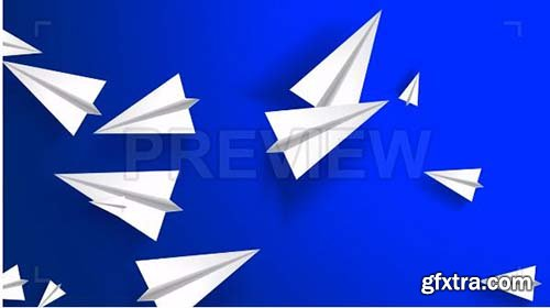 Flying Paper Planes - Motion Graphics 88298