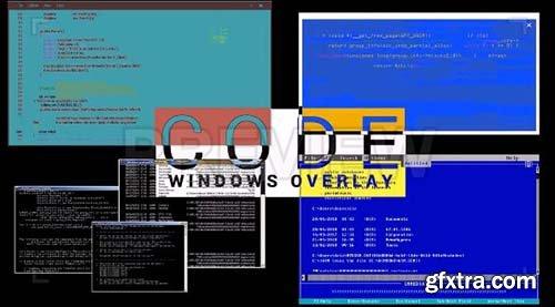 Code Windows Overlay - Motion Graphics 88546