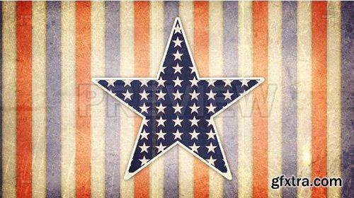 Vintage American Star - Motion Graphics 88389