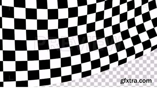 Transparent Close Shot Of A Race Flag - Motion Graphics 88262