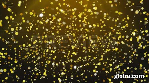 Golden Particles Falling Awarding Background - Motion Graphics 88522