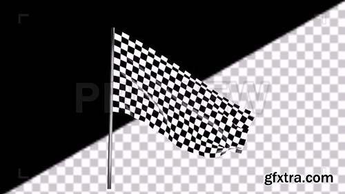 Waving Checkered Race Flag - Motion Graphics 88279