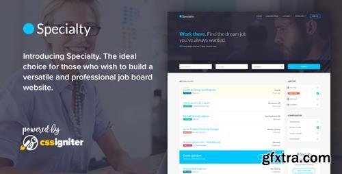 ThemeForest - Specialty v1.0 - Job board HTML template - 19680035