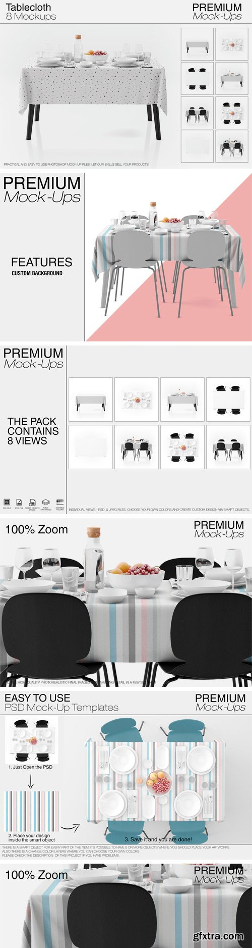 CM - Tablecloth Mockup Set 2431090