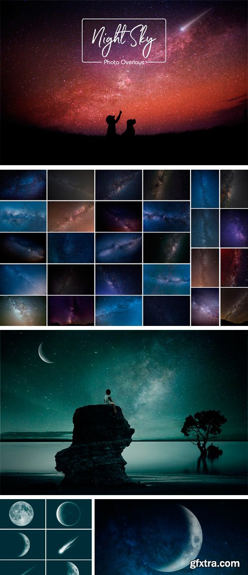 CM - Night Sky and Moon Overlays 2511423