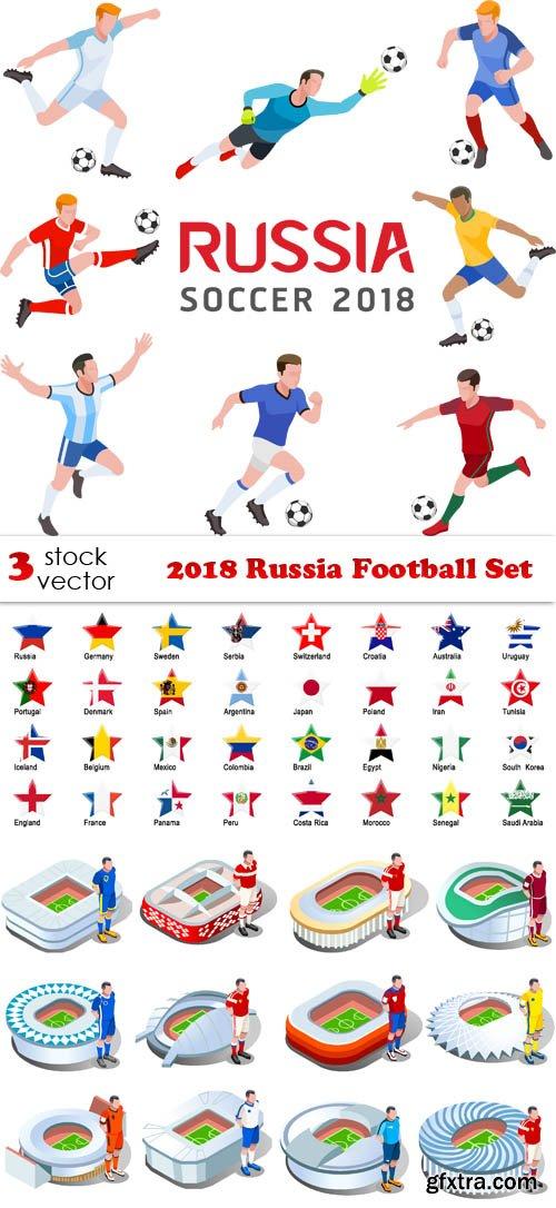 Vectors - 2018 Russia Football Set