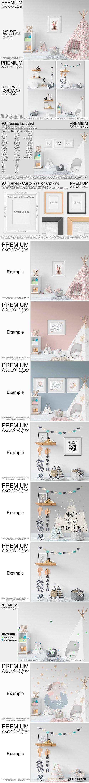 CM - Kids Wigwam, Pouf, Wall & Frames Set 2506579