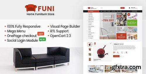 ThemeForest - Funi v1.0.0 - Drag & Drop eCommerce OpenCart 3 & 2.3 Theme (Update: 12 February 18) - 19935967