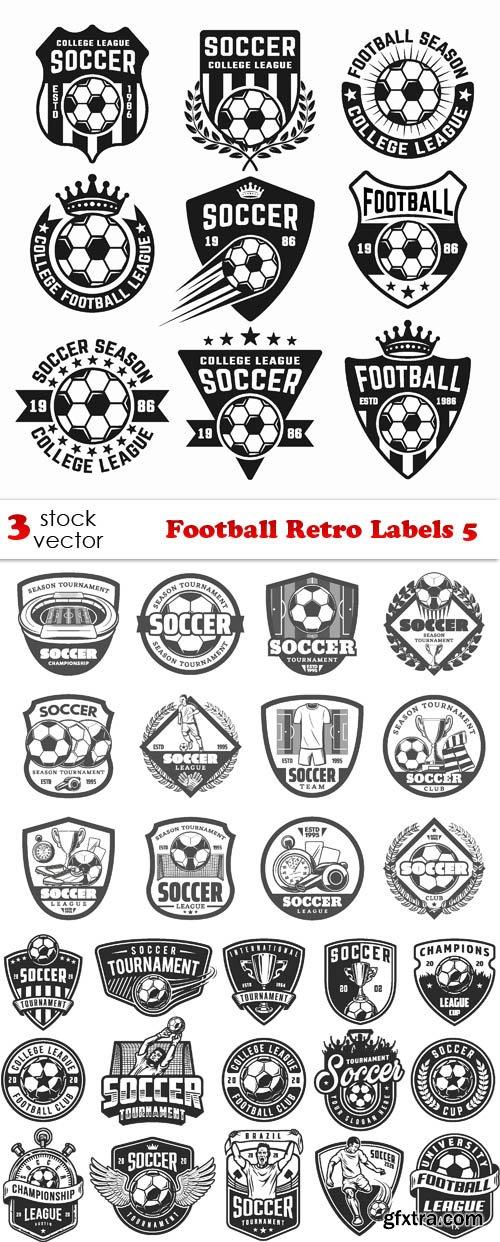 Vectors - Football Retro Labels 5