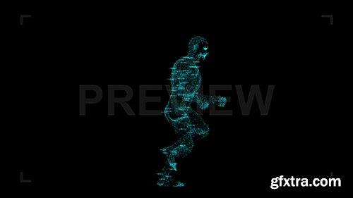 Holographic Data Running Man Loop 86907
