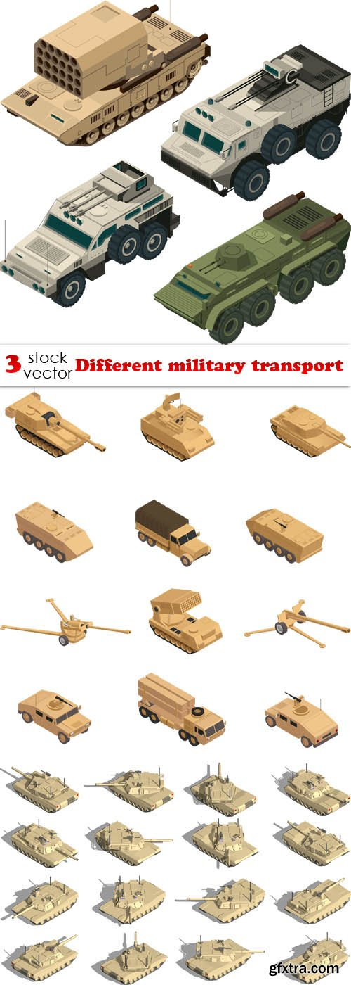Vectors - Different military transport