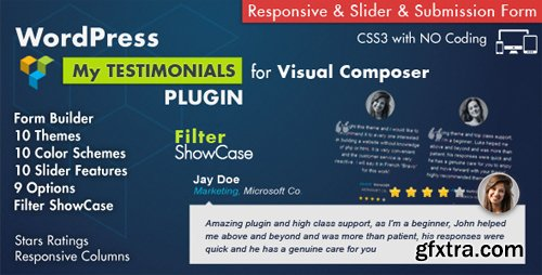 CodeCanyon - Testimonials Showcase for Visual Composer Plugin v3.9 - 7854406