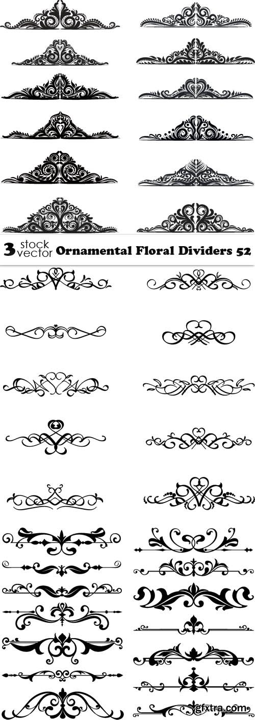 Vectors - Ornamental Floral Dividers 52