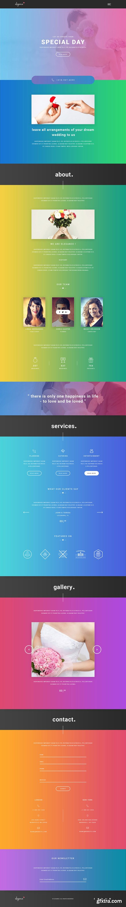 WellMadePixel - Elegance - One Page Wedding Agency Muse Template