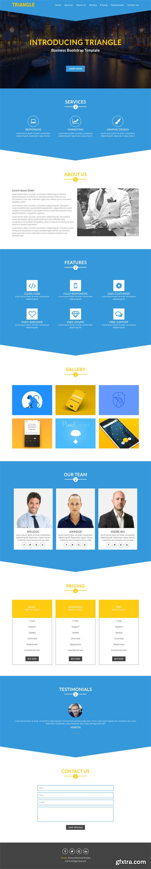 ThemeBak - Triangle - Business Bootstrap Template