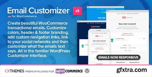 CodeCanyon - Email Customizer for WooCommerce v3.19 - 8654473