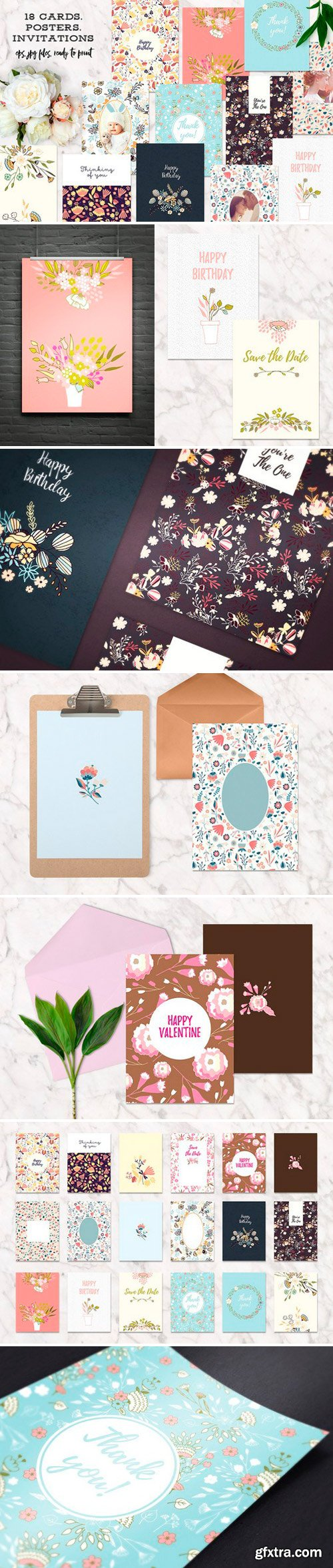 CM - 18 Cards, Invitations or Posters 902899