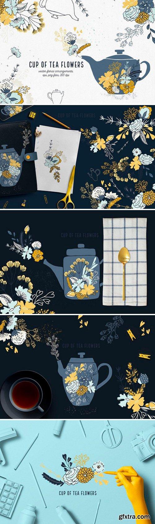 CM - Cup of Tea Flowers 2134930