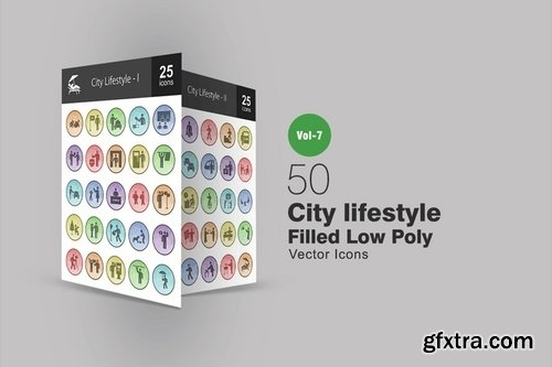 Business_City Lifestyle_Chemistry_Web Interface_Yoga Poses Administration Filled Low Poly Icons