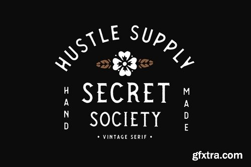 CM - SECRET SOCIETY - A Vintage Serif 2373579