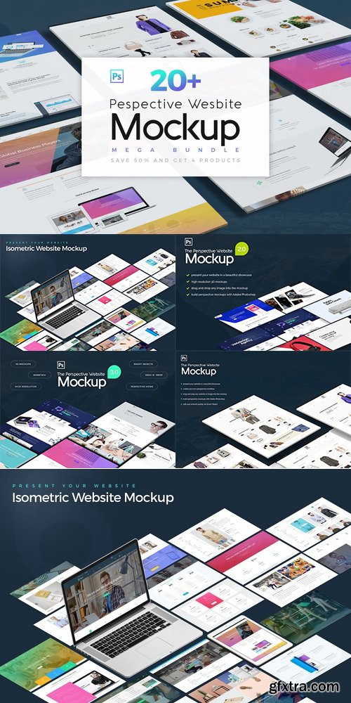 CM - Pespective Website Mockup Bundle 2453008