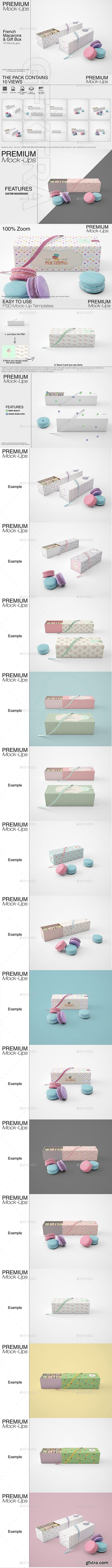 GR - French Macarons & Gift Box Mockup Pack 22050683