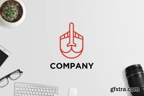 Minimalistic Airplane Logo