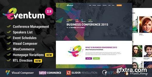 ThemeForest - Eventum v2.9 - Conference & Event WordPress Theme for Event & Conference - 12943209