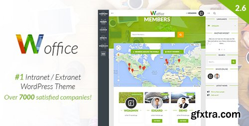 ThemeForest - Woffice v2.7.1.1 - Intranet/Extranet WordPress Theme - 11671924