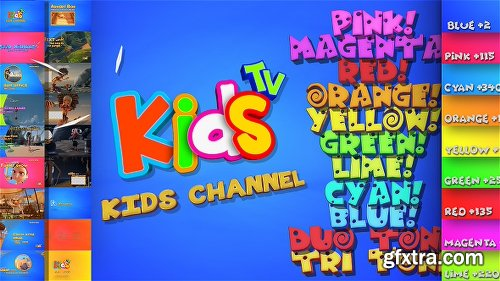 Videohive Kids And Family Channel Broadcast Graphics Package 20904879