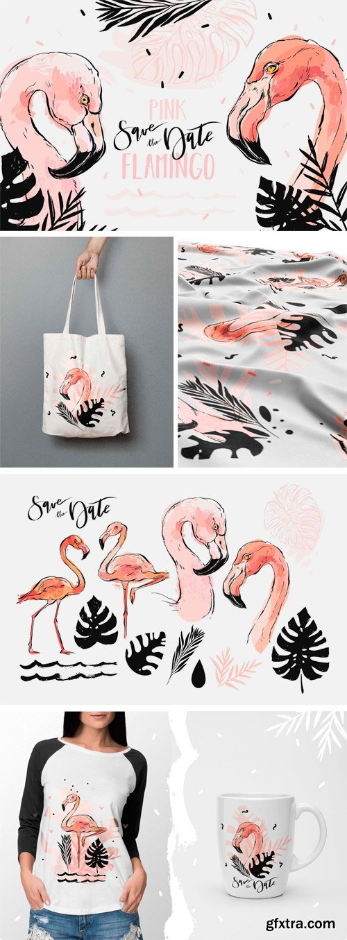 CM - Pink Flamingo Set 2480321