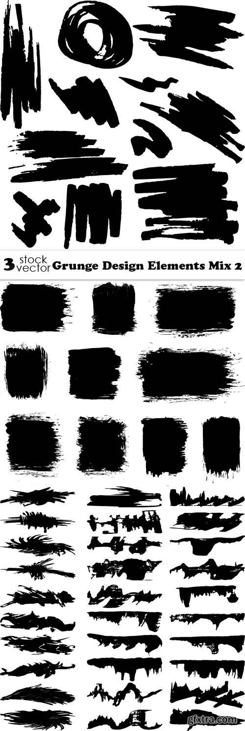 Vectors - Grunge Design Elements Mix 2