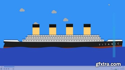 Learn After Effects by creating sinking Titanic Animation