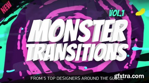 Videohive Monster Transitions 21652717
