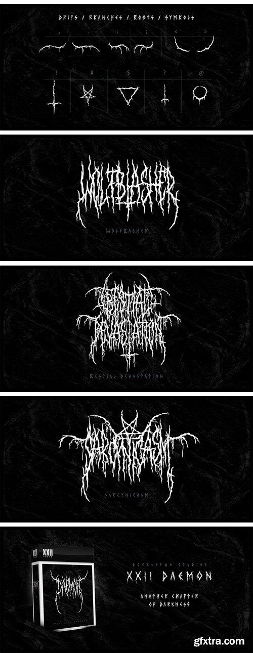 XXII Daemon Font