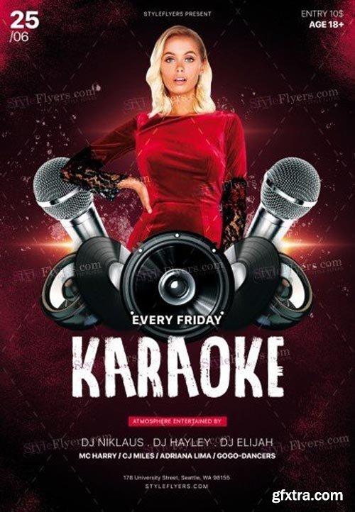 Karaoke V11 2018PSD Flyer Template