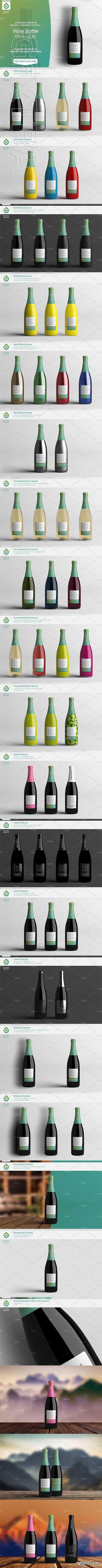 CM - Wine Bottle Mock-Up 2 (V3.0) 2633938