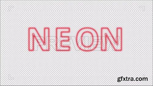 Red Neon Alphabet 86972