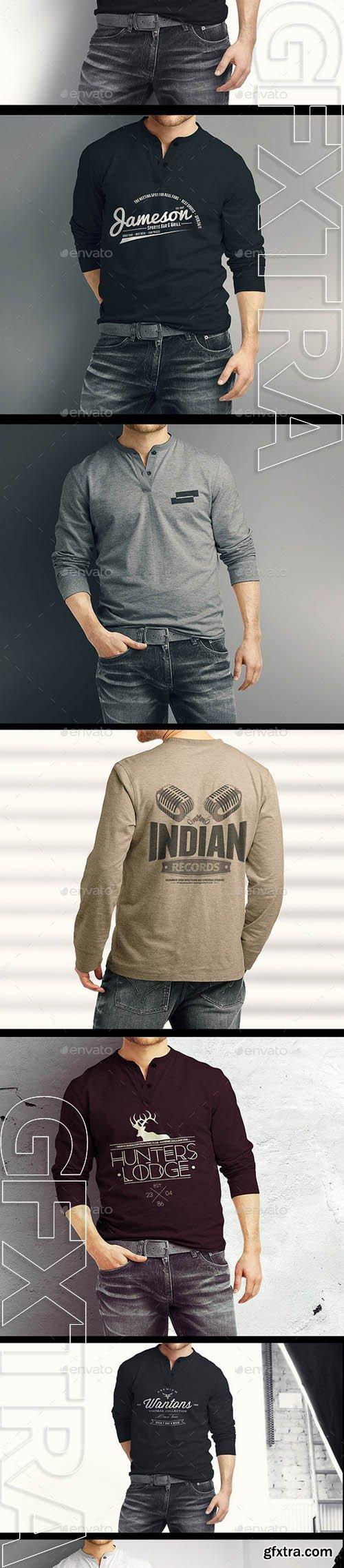 Graphicriver - Man Longsleeve Shirt Mock-up 9610861