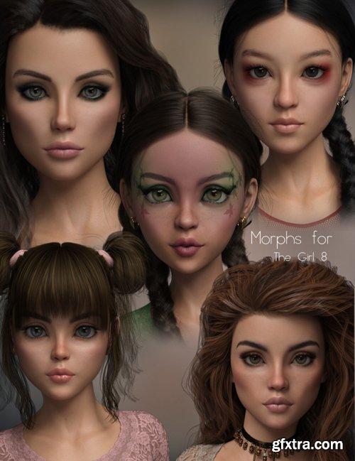 P3D The Girl 8 Morph Pack