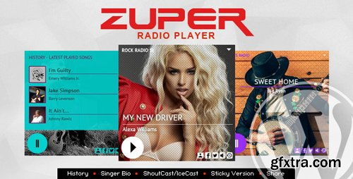 CodeCanyon - Zuper v1.4.3 - Shoutcast and Icecast Radio Player With History - WordPress Plugin - 21094130