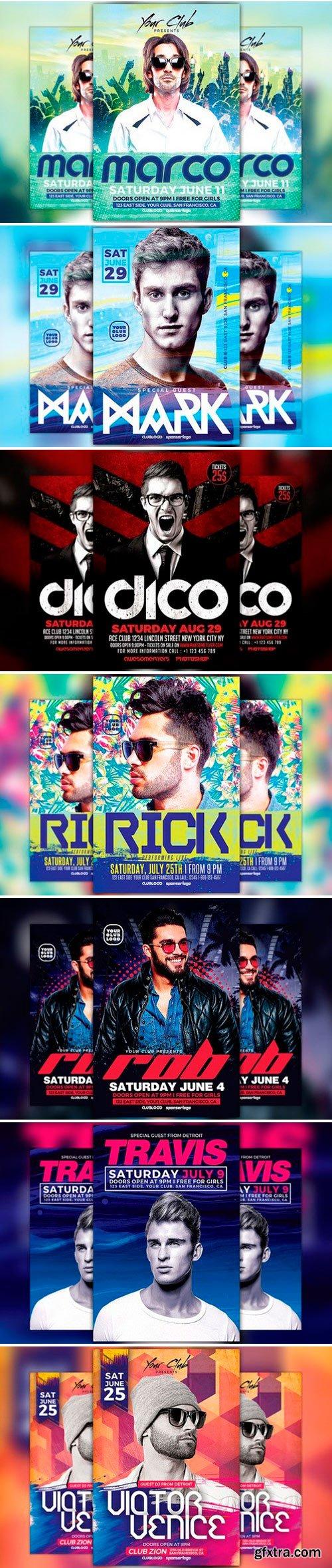 DJ Club Party Flyer Template Bundle