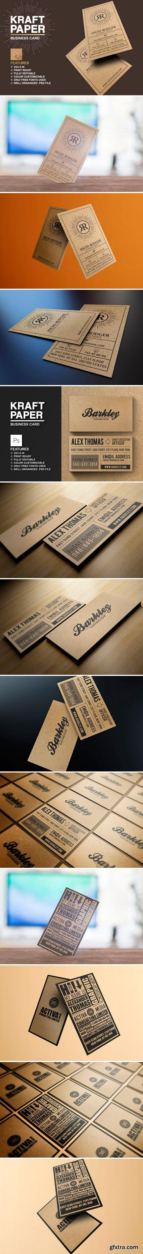 Kraft Paper Business Card Bundle