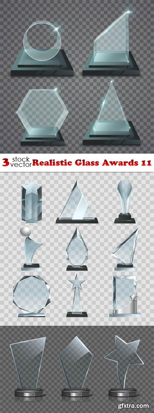 Vectors - Realistic Glass Awards 11