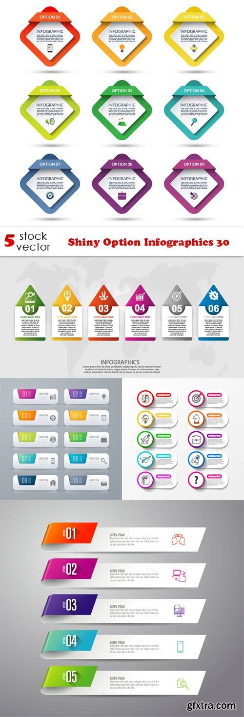 Vectors - Shiny Option Infographics 30