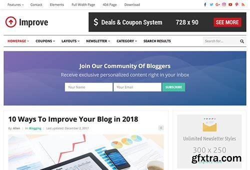 HappyThemes - Improve Pro v1.4 - WordPress Blog & Coupon Theme