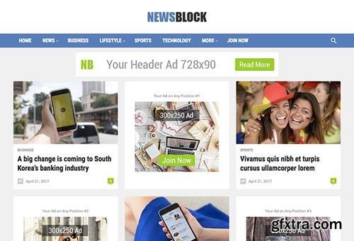 HappyThemes - NewsBlock Pro v1.4 - WordPress Magazine Theme