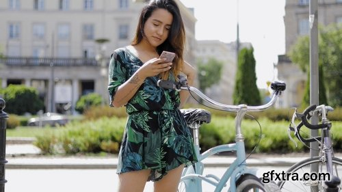 Videohive Sexy Young Woman in an City Street (Stock Footage) 22050331