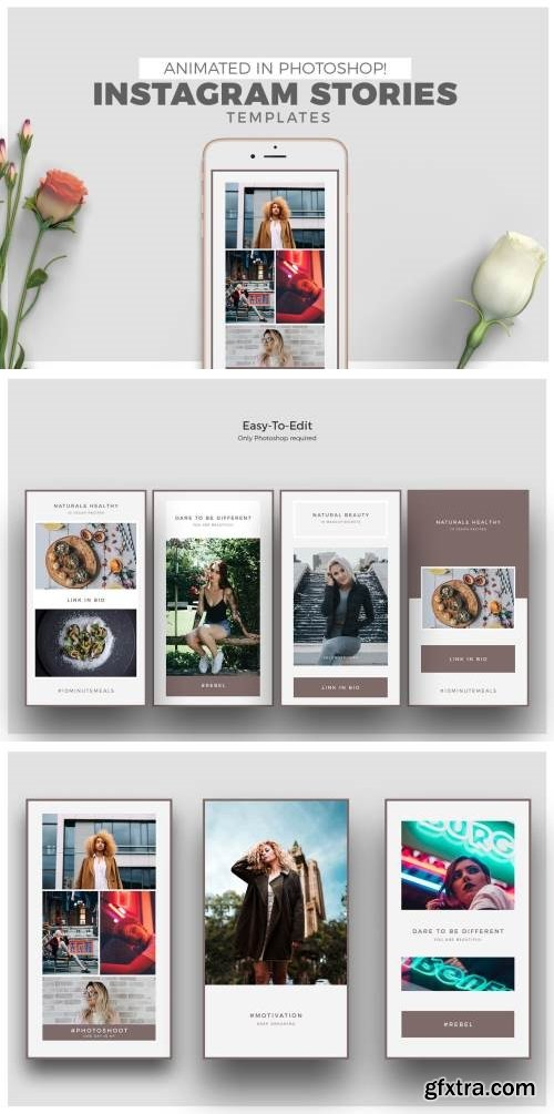 Animated Social Media Templates for Photoshop