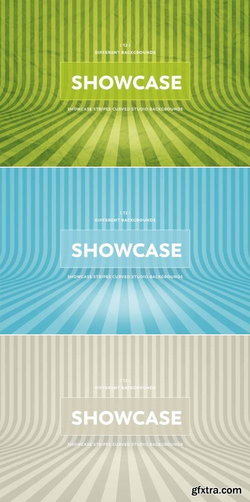 Showcase Stripes Curved Studio Backgrounds Bundle